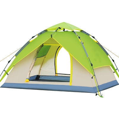 Instant Self Quick Pitch Outdoors 3-Person Camping 3-Season Dome Tent- Green, CH444334