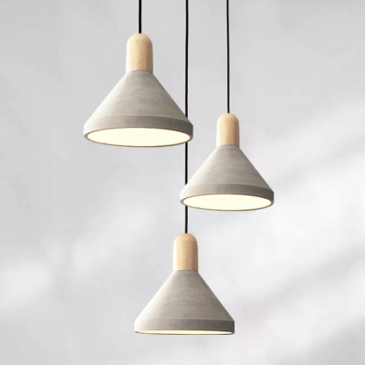 ... Concrete Pendant Light Cone Shade ... & Concrete Pendant Light Cone Shade - Beautifulhalo.com