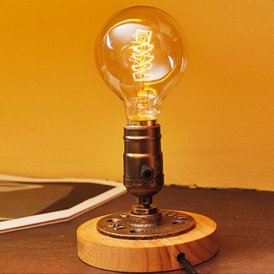 ... Industrial Retro Style Table Lamp Mini Sized Light Brushed Antique  Bronze ...