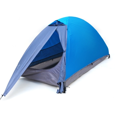Blue Water Resistant 1-Person 3-Season Backpack Dome Tent (6'x3, CH444776