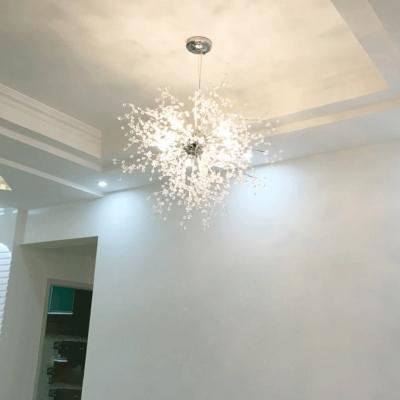 Crystal Beads Sputnik Pendant Light, 27.5 Inch