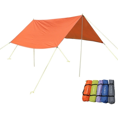 Image of 10-ft x 5-ft Multifunctional Tarp Shelter 5-8 Persons 3 Season Waterproof Rip-Stop with Multi Color Options
