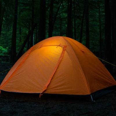 Image of 2 Door 3-Season Backpacking Water-Proof 2-Person Dome Tent, Orange