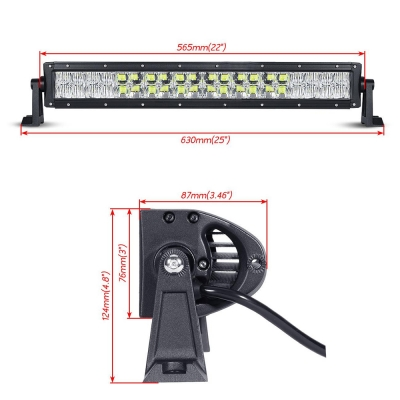 5D 22 Inch Off Road LED Light Bar CREE LED 120W 30 Degree Spot 60 Degree Flood Combo Beam Car Light For Off Road, Truck, SUV, ATV, 4WD