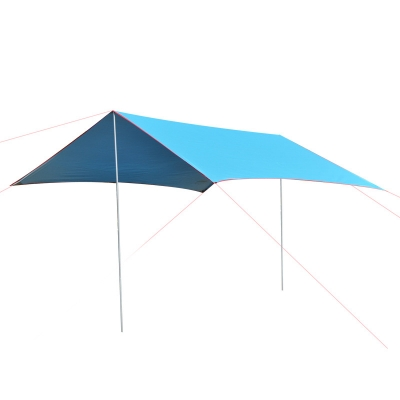Image of 10-ft x 10-ft Outdoor Tent 5-8 Persons 3 Season Tarp Shelter Waterproof Rip-Stop Tent Blue