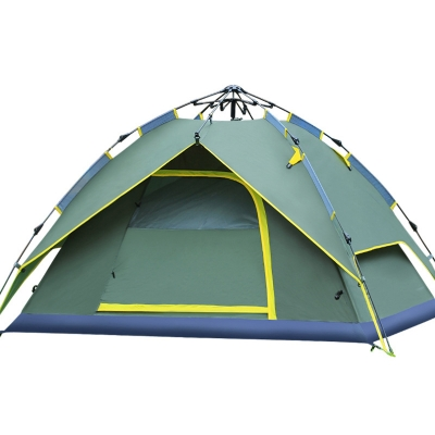Outdoors Instant Tent Quick Pitch Tent 3-Person Family Camping 3-Season Rainproof Dome Tent, Green, CH444349