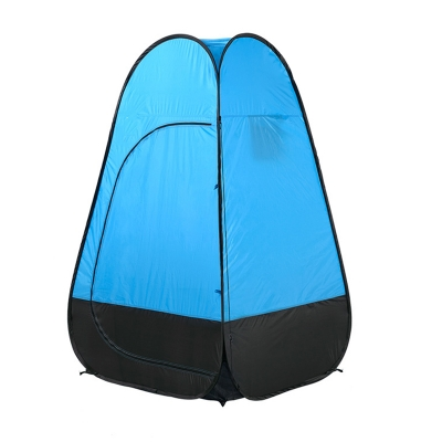 Image of Pop Up Tent Shower Tent Portable Private Outdoor Toilet Tent Blue Coating, 75 Inches High