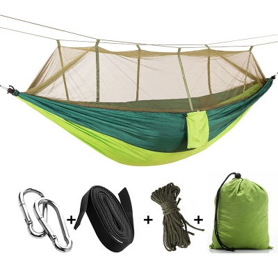 Anti-Mosquito Net Camping Hammock Shelter 1 Person 3 Season Ripstop Waterproof , Dark Geen Plus Light Green, CH444516