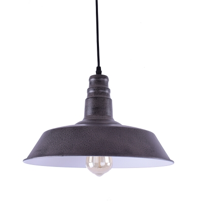 14'' Wide Old Grey Industrial Style Single Light Barn Indoor LED Pendant Lighting