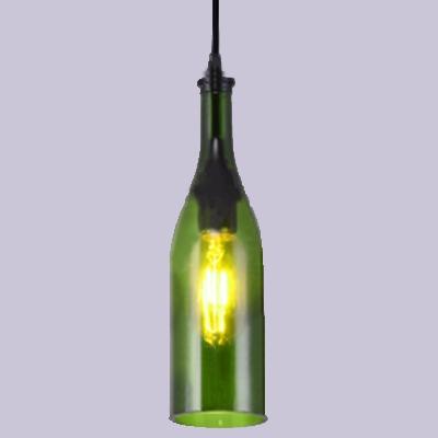 Industrial Recycled Bourbon Bottle Hanging Pendant Bar Decor