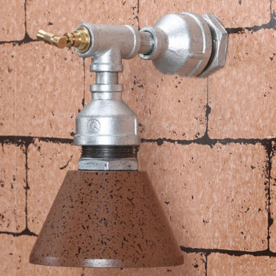 Industrial Wall Sconce with Water Pipe Cone Shade, 5.5'' Width