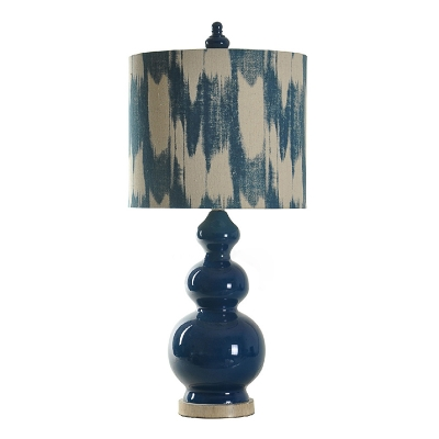 Navy Blue Table Lamp Nickel Ceramics Base
