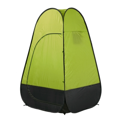 Image of Pop Up Tent Shower Tent Portable Private Outdoor Toilet Tent Green Coating, 75 Inches High