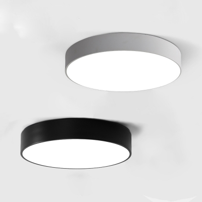 Black Finished LED Round Flush Mount Light Modern 7 Lights