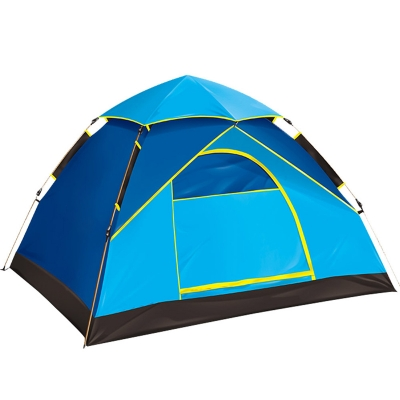 2-Person Instant Quick Pitch Camping Tent 3-Season Dome Tent with Carry Bag, Blue, CH444833