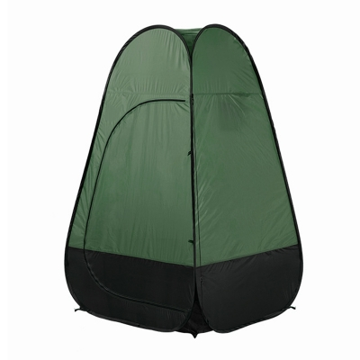 Image of Pop Up Tent Shower Tent Portable Private Outdoor Toilet Tent Dark Green Coating, 75 Inches High