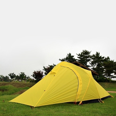 Ultralight Four Person 3-Season C&ing Backpacking Geodesic Tent for Hiking- Yellow ... & Ultralight Four Person 3-Season Camping Backpacking Geodesic Tent ...