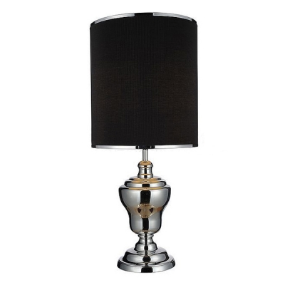 Fashion Trophy Base Table Lamp With Blackwhite Shade