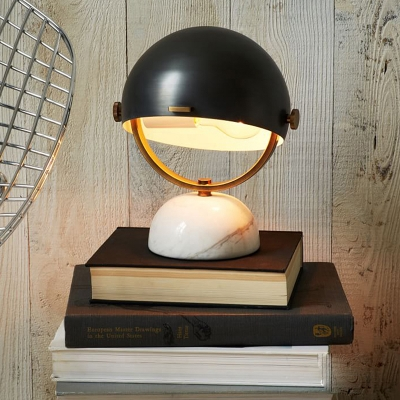 Helmet Table Lamp with Marble Base