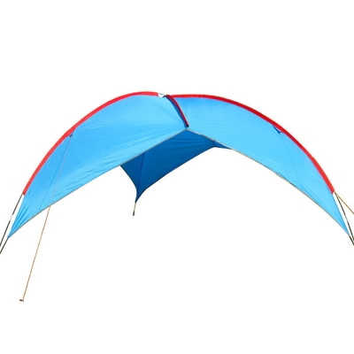 Triangular Design Camping Tent 2 Persons 3 Season Sunshade Shelter Blue, CH444452