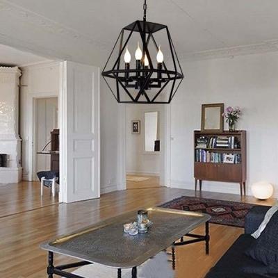 Black 4 light diamond shape led chandelier foyer pendant light black 4 light diamond shape led chandelier foyer pendant light aloadofball Gallery