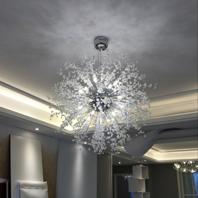 Crystal Beads Sputnik Pendant Light 27 5 Inch