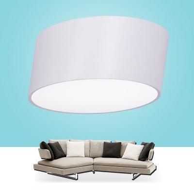 Lean White Flush Mount LED Drum, 15.7 Inch