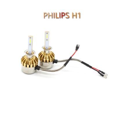 Philips P9 Car LED Headlight Bulbs H1 72W 7600LM 6000K LED, Pack of 2