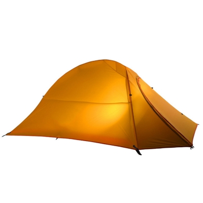 UAM Ultralight 20D Silicone Fabric Layer 2-Person 3-Season Dome Tent, Yellow, CH444251