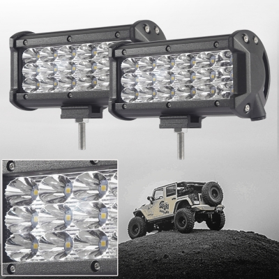 7 Inch Off Road LED Light Bar 54W 30 Degree Spot Beam Car Light For Off Road, Truck, 4WD, BOAT, JEEP, Pack of 2