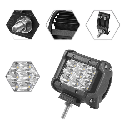4 Inch Off Road LED Light Bar 27W 30 Degree Spot Beam Car Light For Off Road, Truck, 4WD, BOAT, JEEP, Pack of 2