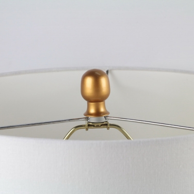 Contemporary Table Lamp with Cut Out Golden Base