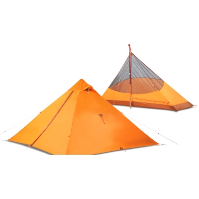 Image of Double Layer Durable Water Resistant 4-Season 1-Person Basic Ridge Tent, Orange