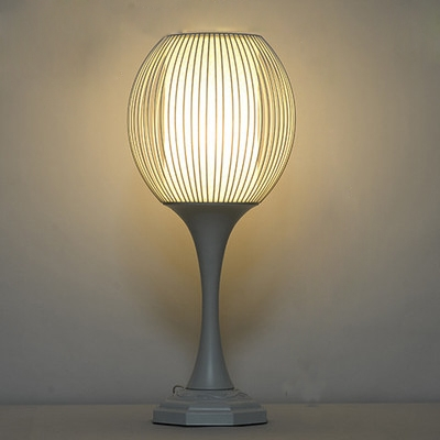 Industrial table lamp 1 light with wire net metal cage in white keyboard keysfo Image collections