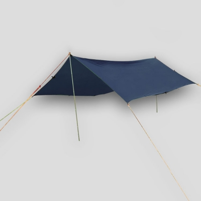 Image of 10-ft x 13-ft Sunshade Camping Tent 1-2 Persons 3 Season Tarp Shelter Waterproof Lightweight Blue