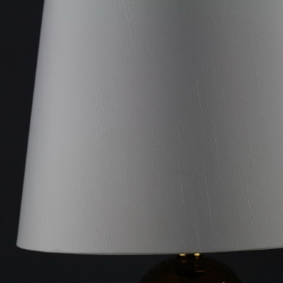 Ceramics Punched Base Table Lamp with Brown Shade