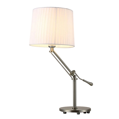 Modern Table Lamp With Rocker Arm Fabric Drum Shade ...