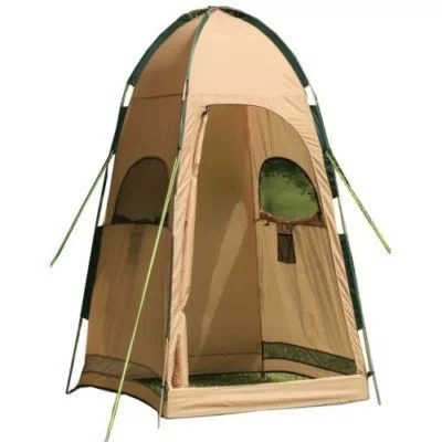 Image of Portable Set Up Shower Tent for 1 Person Waterproof Khaki Coating 1.6kg with Carrying Bag