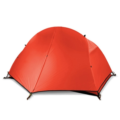 Image of 1.6KG Ultralight 3-Season 1-Person Nylon Silicone Water Resistant Backpacking Dome Tent, Orange
