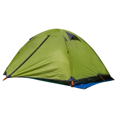 Double Polyester Layer 2-Person Backpacking Anti-UV 3-Season Dome Tent (Green), CH444122