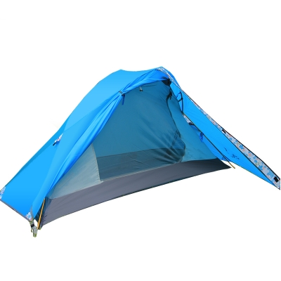 ultralight 3season blue backpacking 1person 210d polyester sundome tent