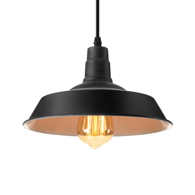 Simple old black 1 light led hanging pendant lamp