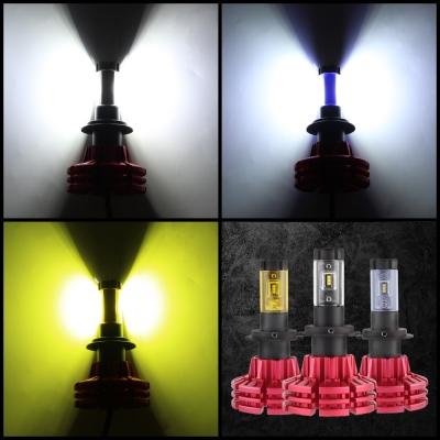 NIGHTEYE X1 Car LED Headlight Bulbs H7 60w 10000LM 6500K LUXEON ZES LED Pack of 2