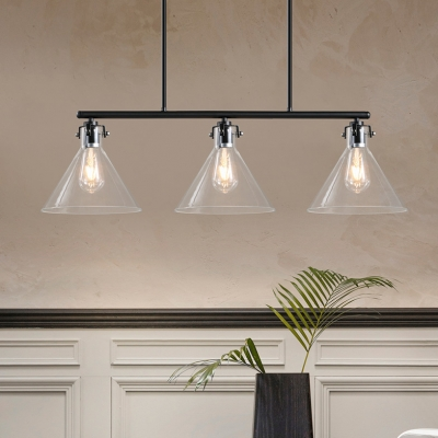 triple with glass eglo smoked pendant light in image loncino and black steel