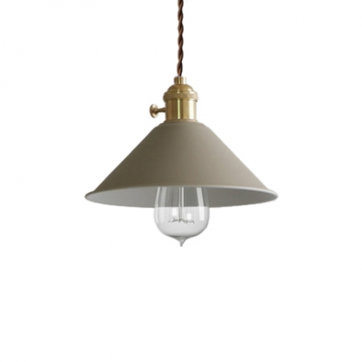 ... Vintage Pendant Light With Coolie Shade In Blue/Grey/Brown/White/Red ...