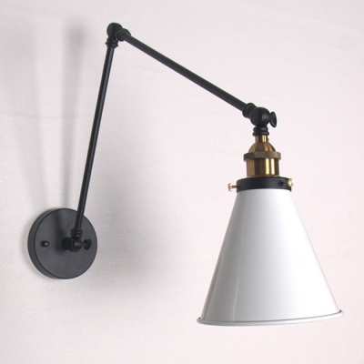 Industrial Adjustable Wall Sconce With 8