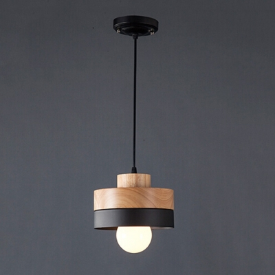 Simple Wood Pendant Hanging Lamp Indoor