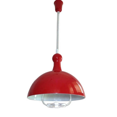 Extendable Pendant Light With Dome Shade Multi Color Options