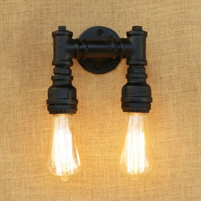 industrial wall sconce retro loft pipe fixture arm in open