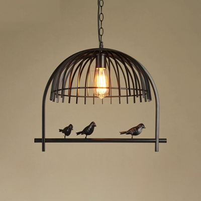 Industrial pendant light in birdcage style black beautifulhalo industrial pendant light in birdcage style black aloadofball Gallery